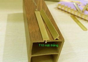 Nẹp đồng T10 mặt thẳng